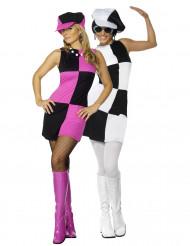Disfraz de pareja de mujeres estilo disco