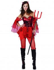 Disfraz de diablesa para mujer, ideal para Halloween