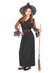 Disfraz de bruja negra para niña ideal para Halloween