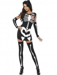 Disfraz de esqueleto sexy para mujer ideal para Halloween