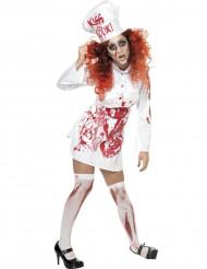 Disfraz de cocinera zombie para mujer