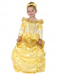 Disfraz dorado de princesa para niña