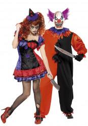 Disfraces de pareja de payasos terroríficos ideales para Halloween