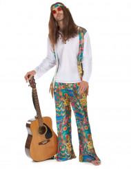 Disfraz de hippie para hombre pantalón multicolores