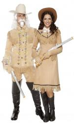 Disfraces de pareja de vaqueros del Oeste