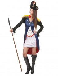 Disfraz de soldado francés para mujer