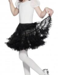 Falda negra transparente para niña