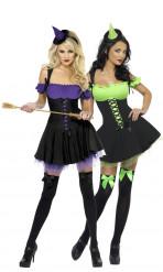 Disfraces de pareja de brujas sexys para mujeres
