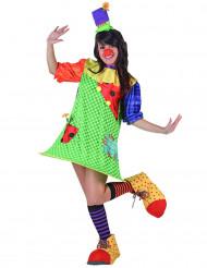 Disfraz de payaso colorido para mujer