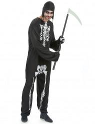 Disfraz de esqueleto completo para hombre