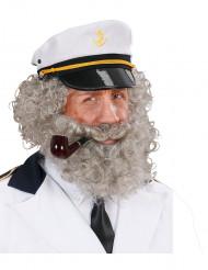 Barba y bigote de marinero para hombre