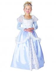Disfraz de princesa para niña azul y blanco