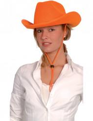 Sombrero naranja de vaquero