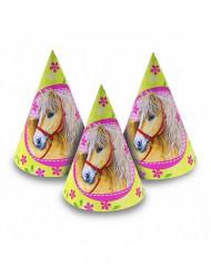 6 sombreros con caballos