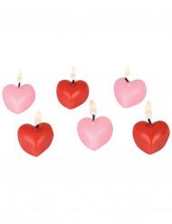 Velas en forma de corazón