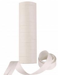 Rollos de serpentina blanca