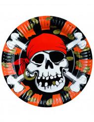 8 platos estilo pirata de 23 cm