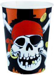 8 vasos estilo pirata