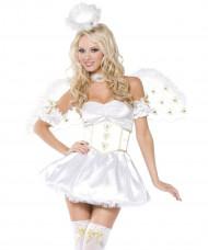 Disfraz de ángel de Navidad sexy para mujer