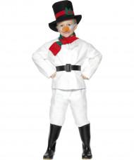 Disfraz infantil de muñeco de nieve para Navidad