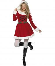 Disfraz de Mamá Noel para mujer con capucha