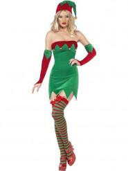 Disfraz de duende de Navidad sexy para mujer