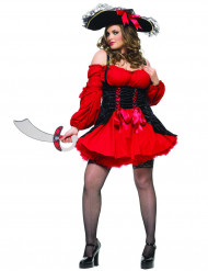 Disfraz de pirata sexy para mujer rojo