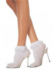Calcetines cortos blancos para mujer