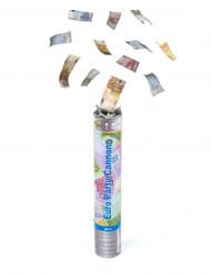 Cañón de confeti en forma de billetes