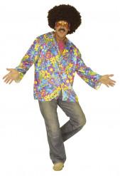 Disfraz de hippie azul para hombre
