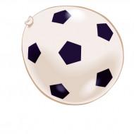 Globos de pelotas de fútbol