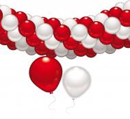 Kit de decoración rojo y blanco