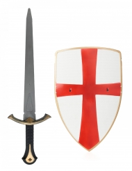 Set de caballero escudo y espada