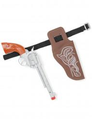 Pistola de vaquero con cartuchera