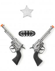 Set de 2 pistolas vaquero 17 cm
