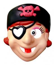 Máscara de pirata para niña