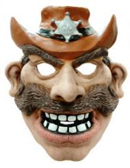 Máscara de cowboy látex