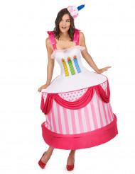 Disfraz de tarta de cumpleaños mujer