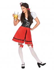 Disfraz de bávara rojo para mujer