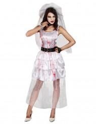 Disfraz novia zombie mujer Halloween