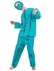 Disfraz de cirujano zombie Halloween adulto