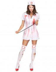 Disfraz enfermera psicópata asesina Halloween