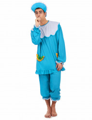 Disfraz de bebé azul adulto
