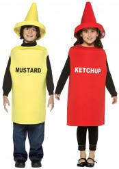 Disfraz de Ketchup y Mostaza para niños