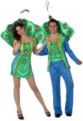 Disfraz parejas de Pavo Real
