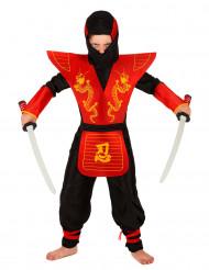 Disfraz de ninja para niño con armadura
