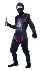 Disfraz de ninja para niño negro y rojo