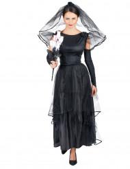Disfraz de novia negra para mujer