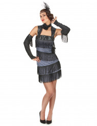 Disfraz de charlestón flequillos para mujer