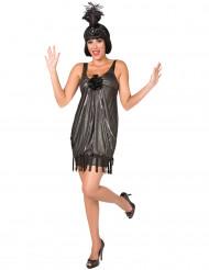 Disfraz de charlestón rosa negra para mujer